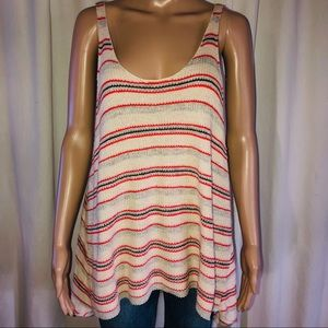 Free People striped sweater knit tank top
